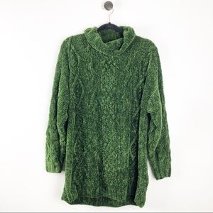 Vintage | Chunky Knit Sweater Emerald Green M/L